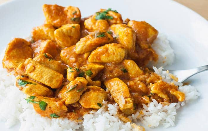 pollo al curry receta